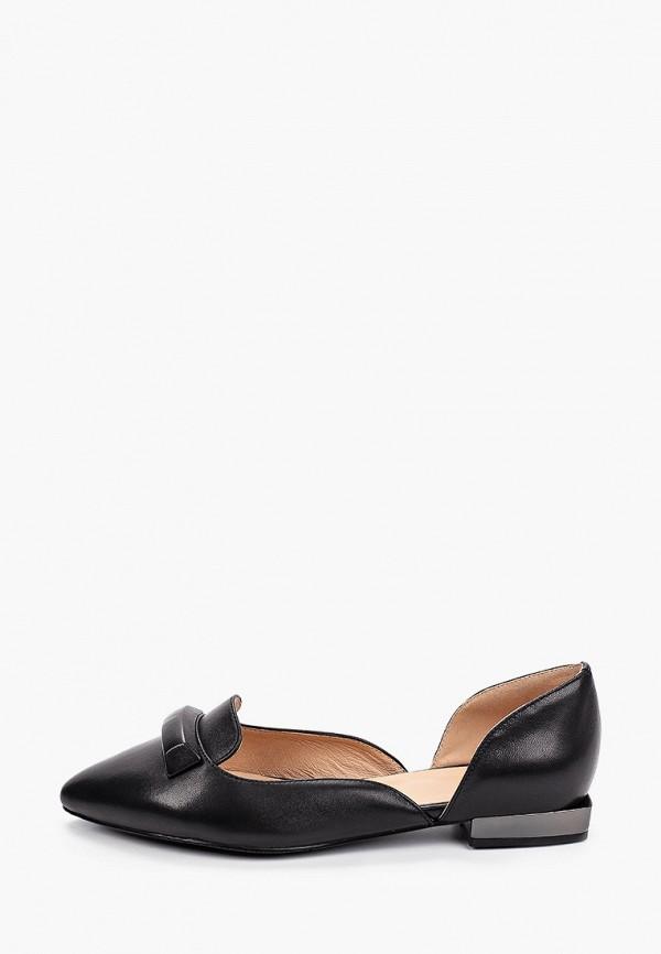 женские туфли с закрытым носом palazzo d'oro, черные