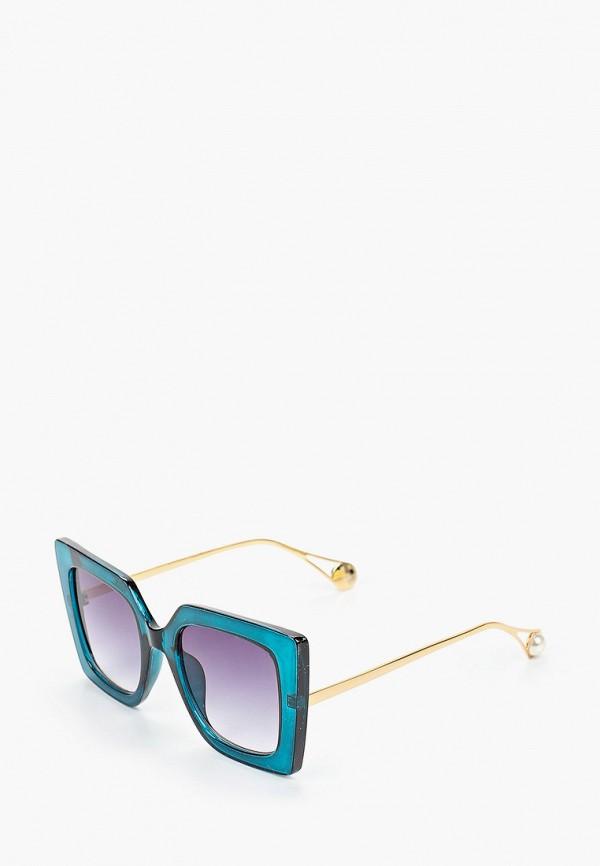 женские квадратные солнцезащитные очки bacio bella, бирюзовые