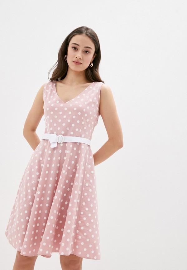 женское повседневные платье viserdi, розовое