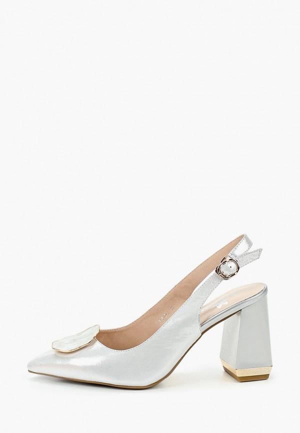 женские туфли stivalli, серебряные