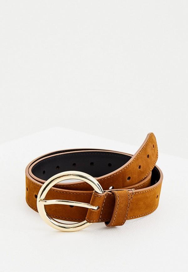 женский ремень sandro, коричневый