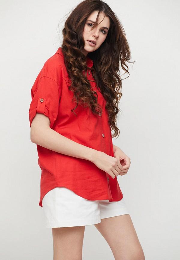 женская рубашка с коротким рукавом cardo, красная