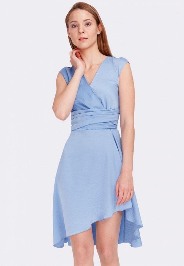 женское платье cat orange, голубое