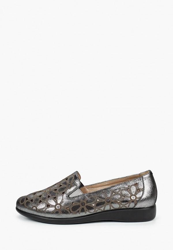женские лоферы ascalini, серебряные