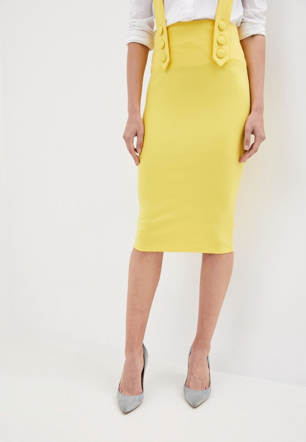 женская узкие юбка malaeva, желтая