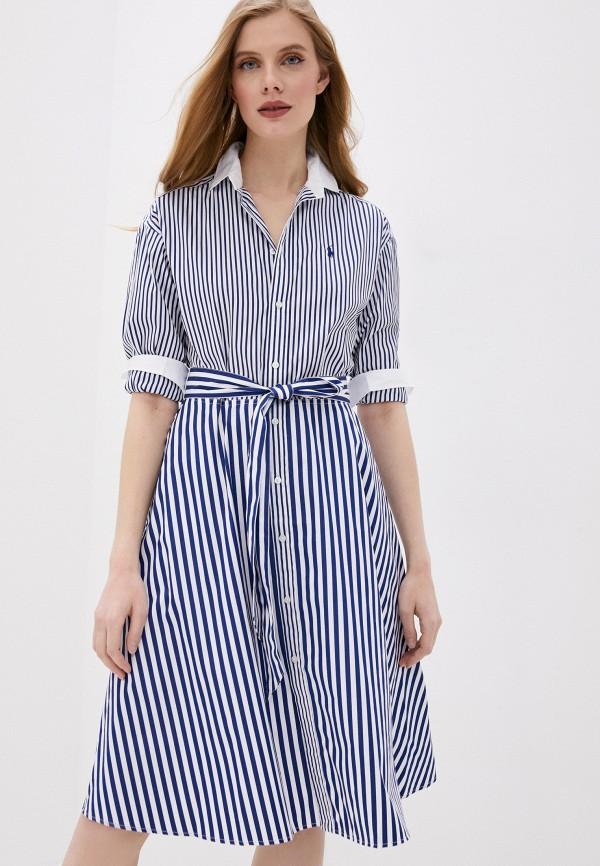 женское платье-рубашки polo ralph lauren, синее