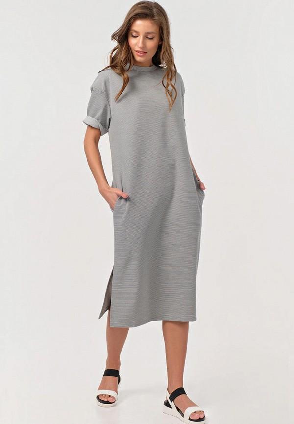 женское повседневные платье fly, серое