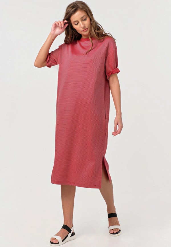 женское повседневные платье fly, розовое