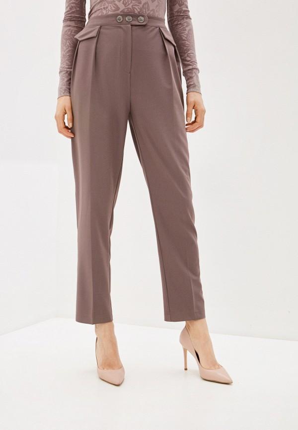 женские классические брюки viaville, коричневые