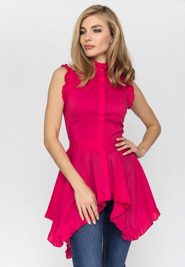 женская туника gloss, розовая