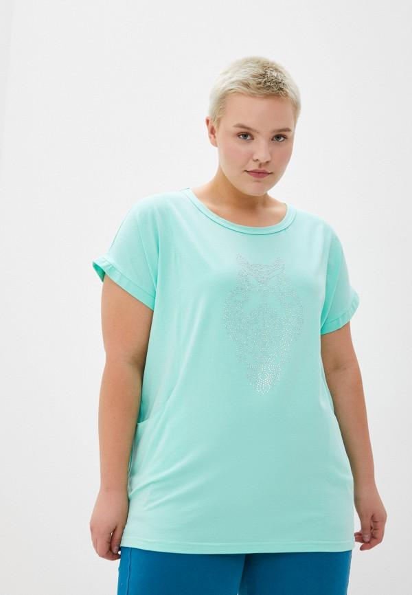женская футболка olsi, бирюзовая