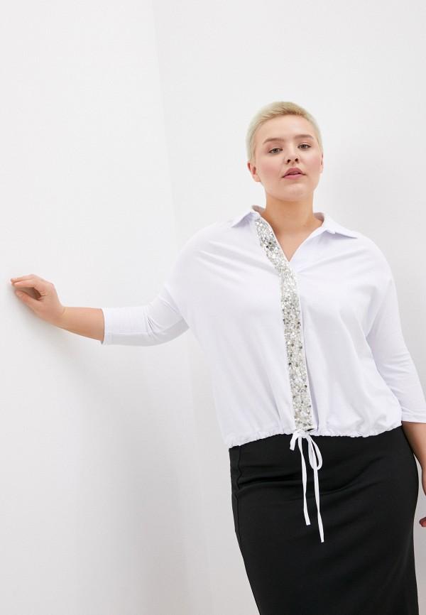 женская блузка с длинным рукавом olsi, белая