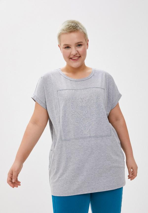 женская футболка olsi, серая