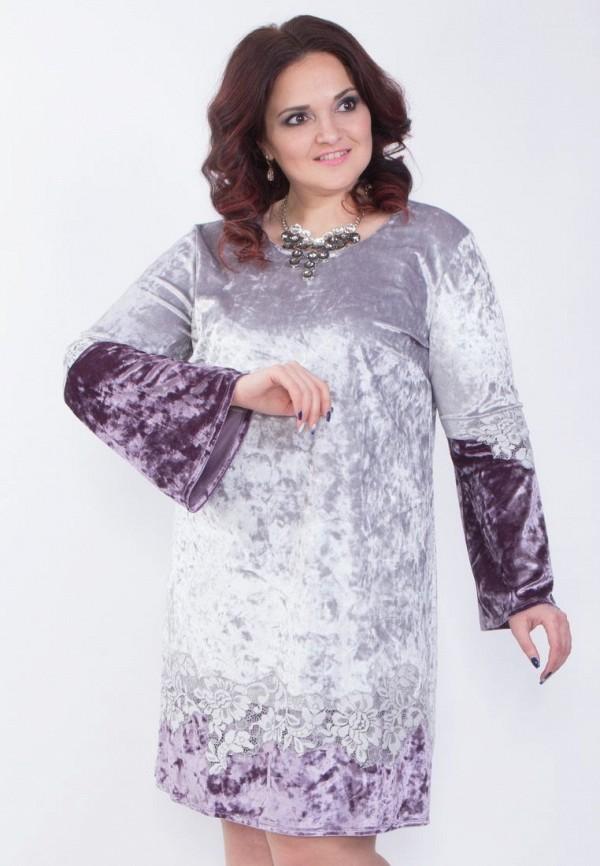 Купить женское платье Wisell фиолетового цвета