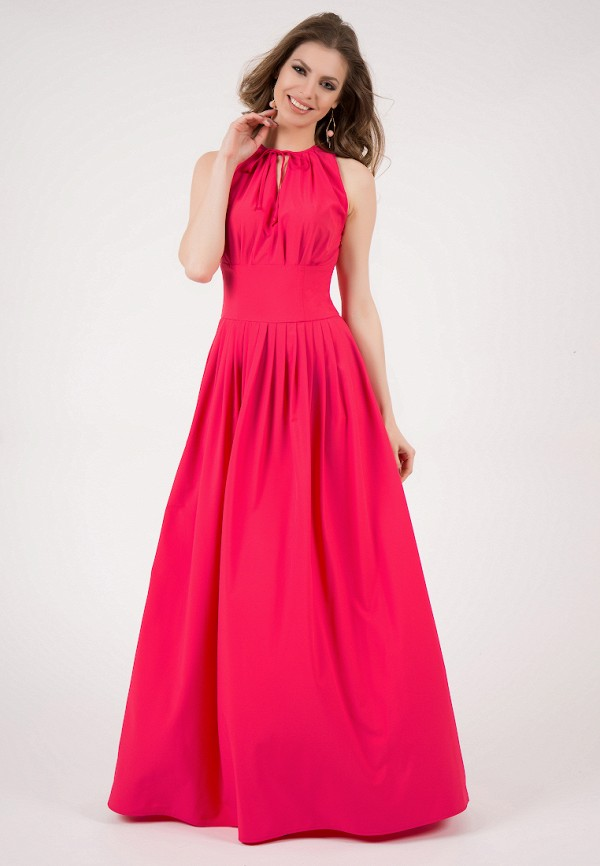 женское платье макси olivegrey, розовое