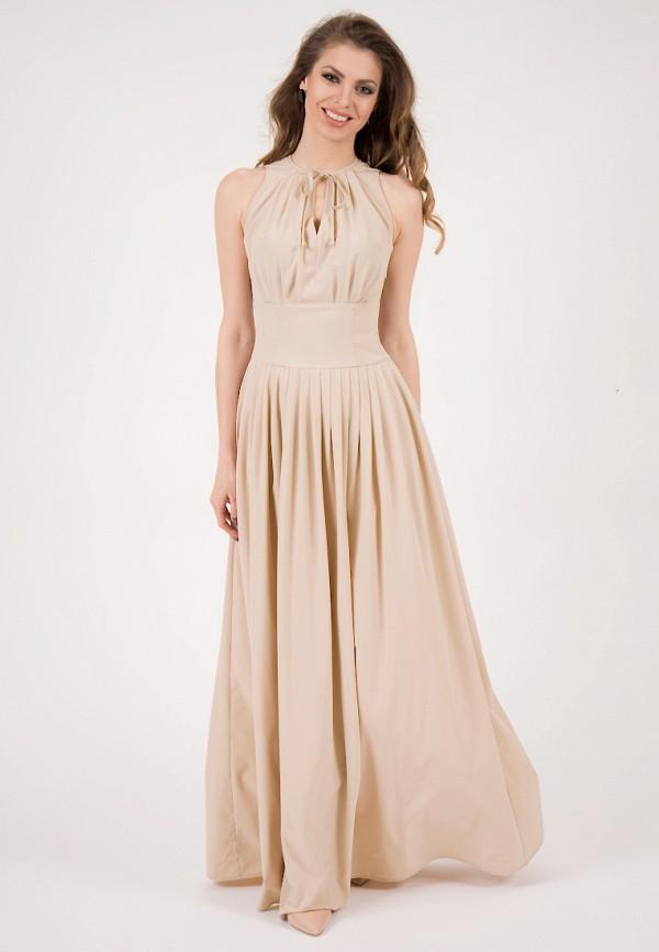 женское платье макси olivegrey, бежевое
