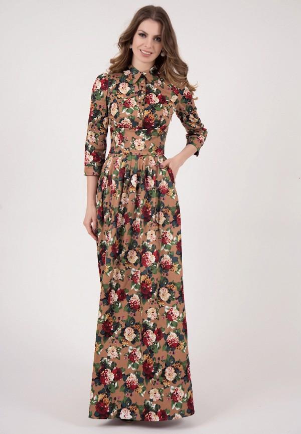 женское повседневные платье olivegrey, коричневое