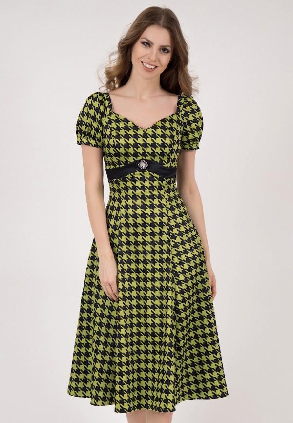женское платье миди olivegrey, зеленое