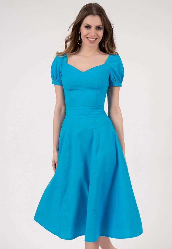 женское платье миди olivegrey, голубое