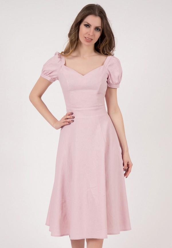 женское платье миди olivegrey, розовое