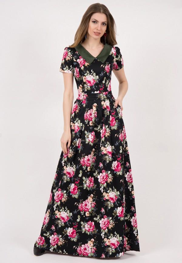 женское платье макси olivegrey, черное