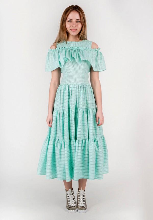 женское повседневные платье vergans, бирюзовое