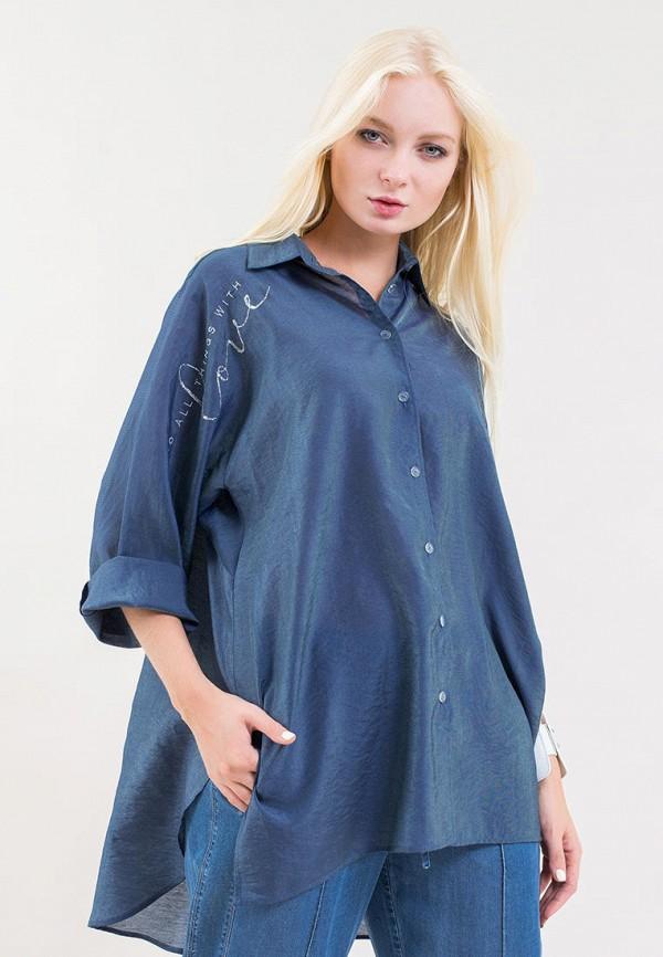женская блузка maxa, синяя