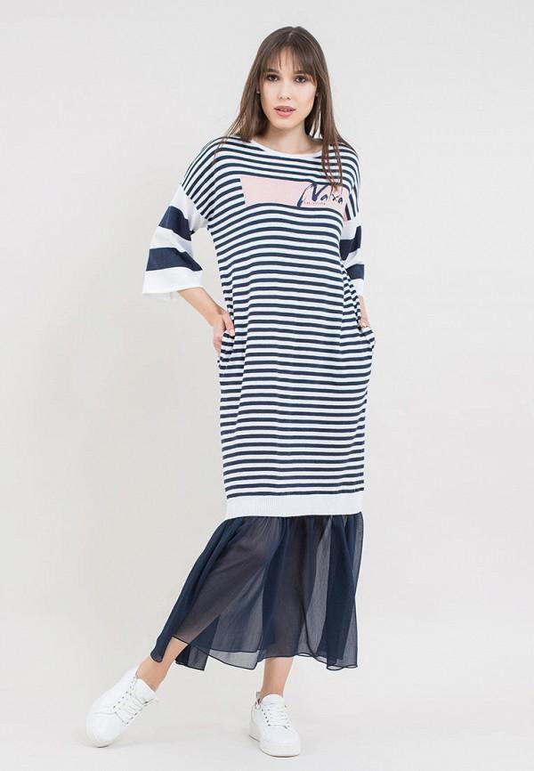 женское повседневные платье maxa, синее