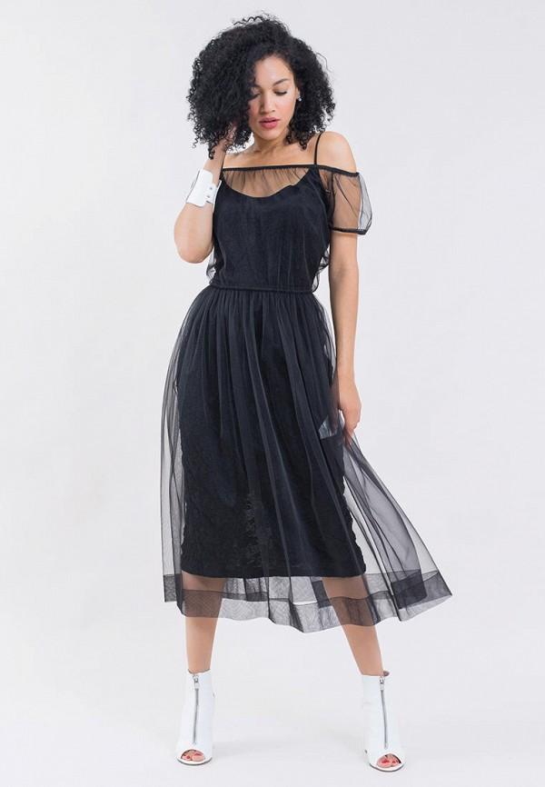 женское вечерние платье maxa, черное