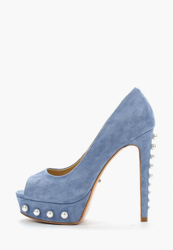 женские туфли с открытым носом vitacci, голубые