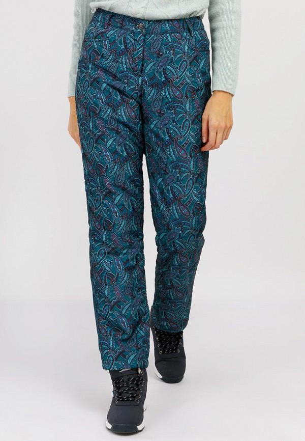 женские утепленные брюки finn flare, бирюзовые