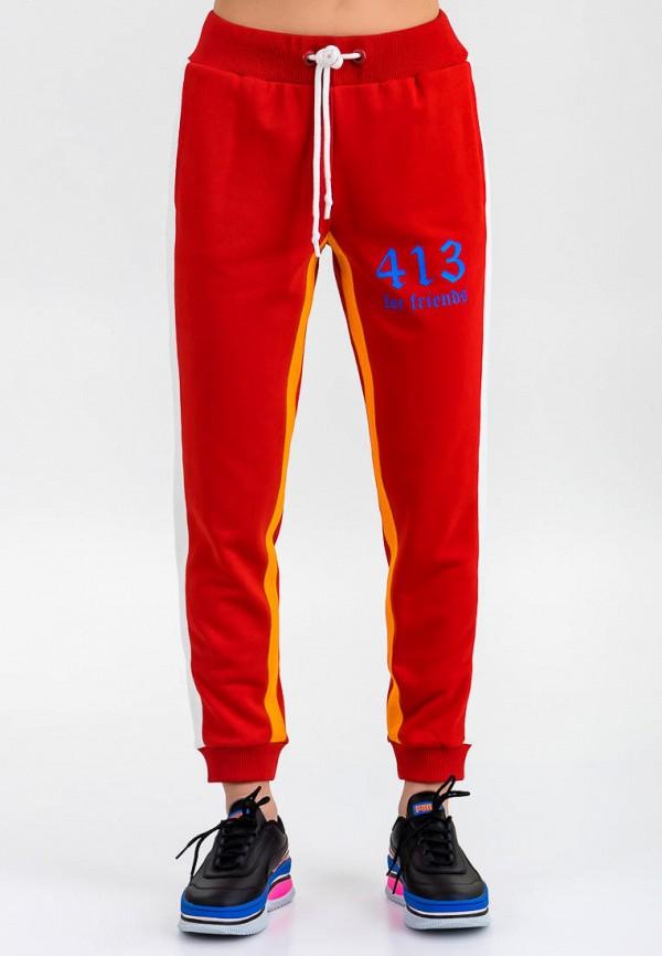 женские спортивные брюки for friends, красные