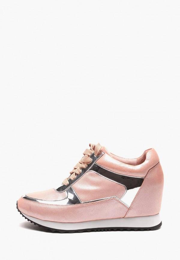 Купить Кеды на танкетке Basconi розового цвета