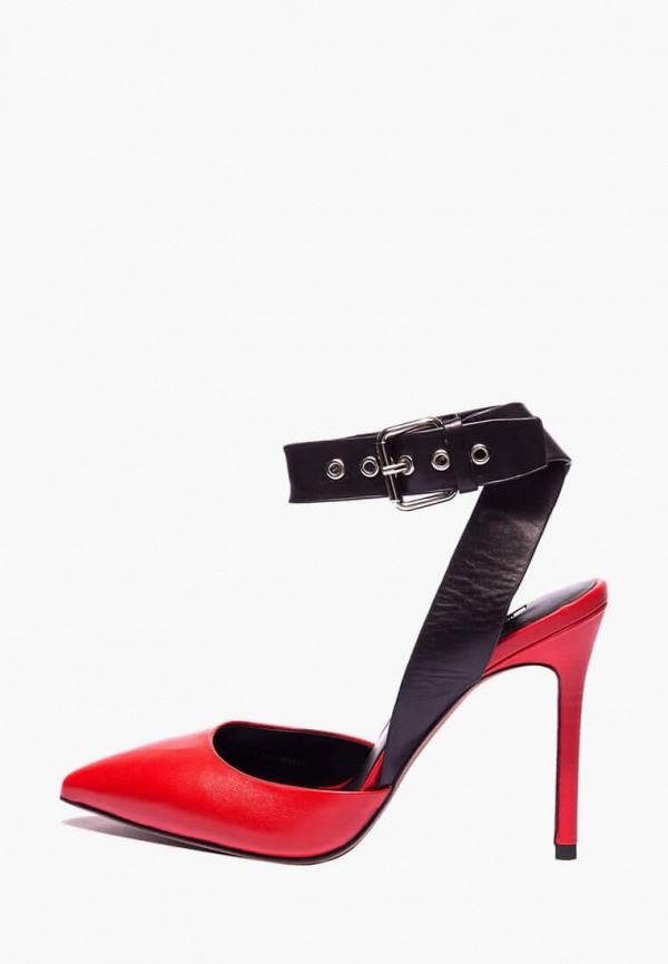 женские туфли basconi, красные