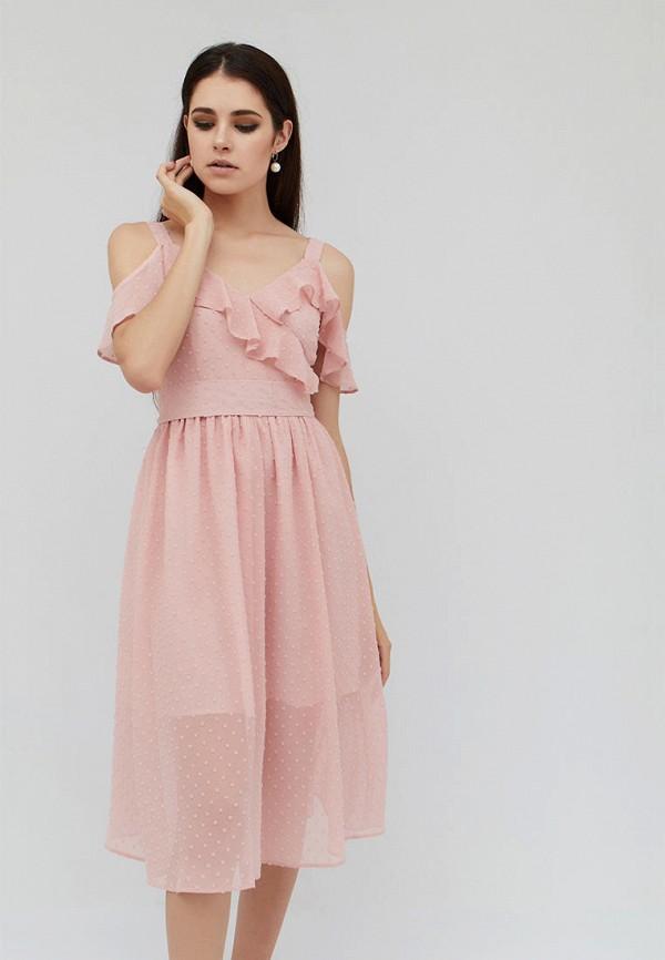 женское платье cardo, розовое