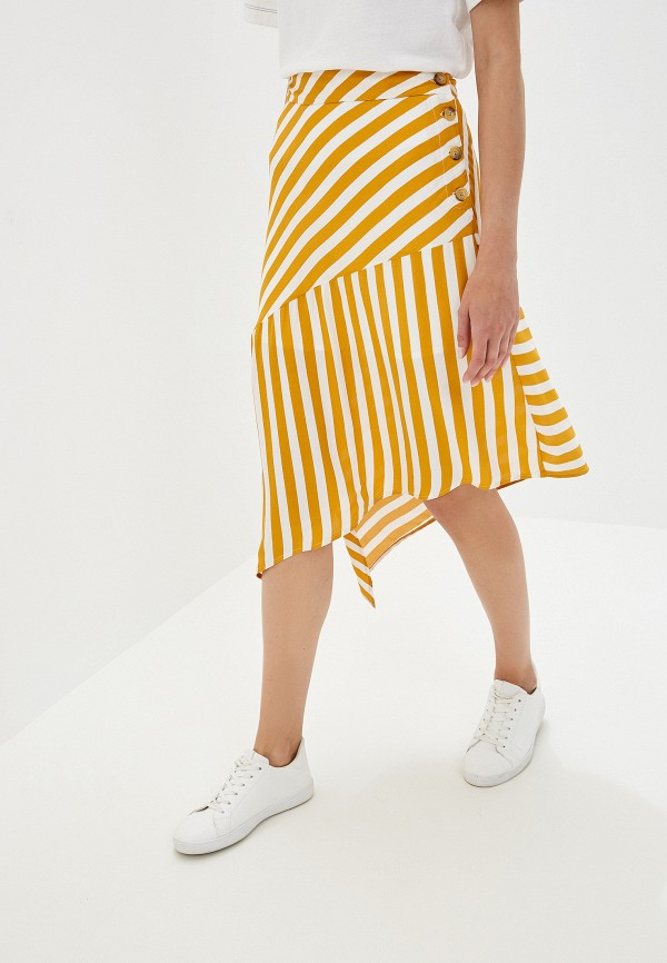 женская юбка colin's, желтая