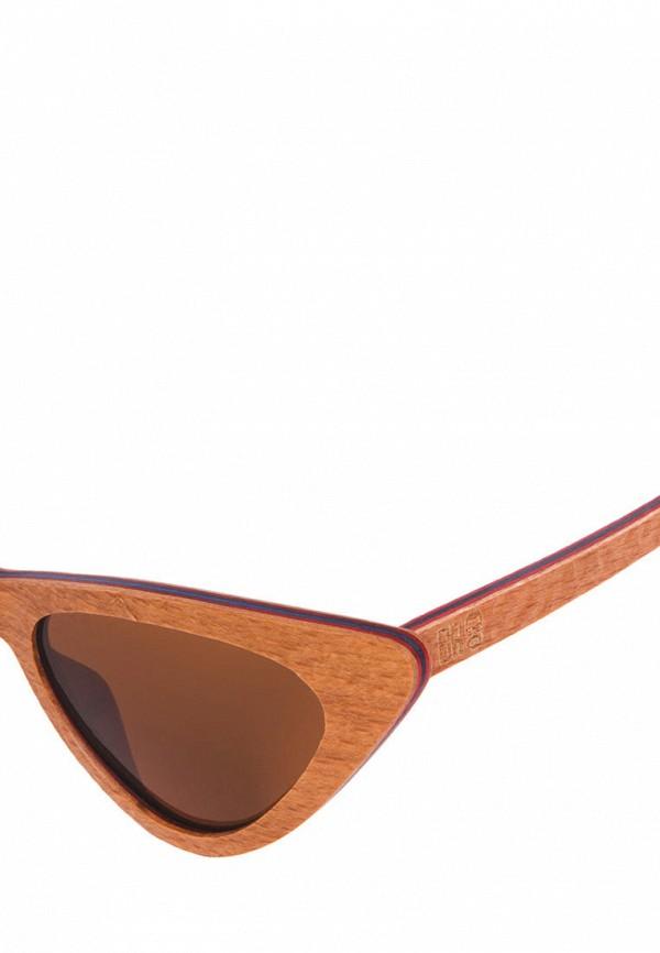 Фото 2 - Очки солнцезащитные BRO коричневого цвета