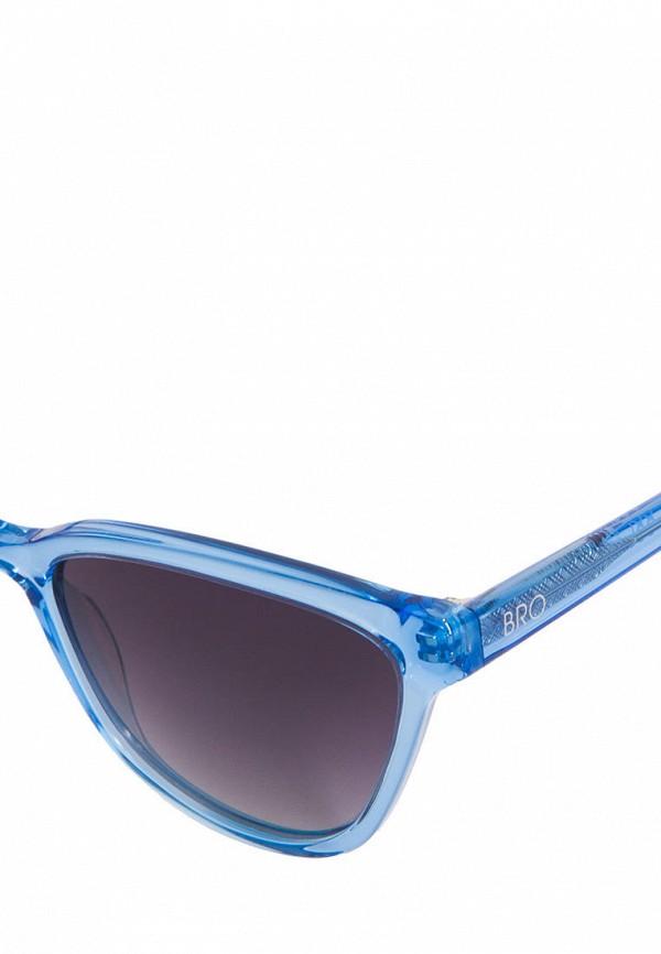 Фото 2 - Очки солнцезащитные BRO голубого цвета