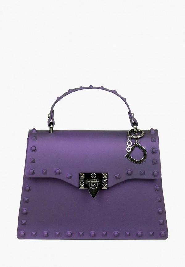 женская сумка dasti, фиолетовая