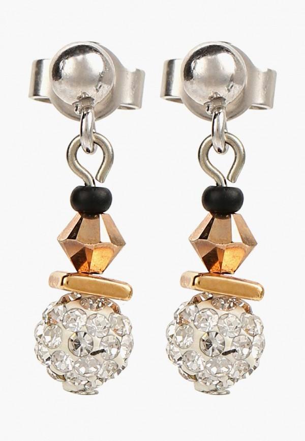 Купить Женские серьги, клипсы или пирсинг Coeur de lion серебрянного цвета