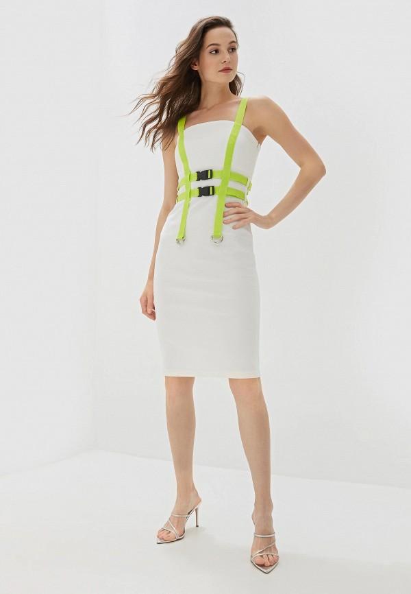 Фото 2 - Женское платье Malaeva белого цвета