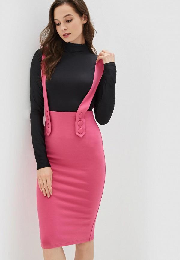 Фото - Женскую юбку Malaeva розового цвета