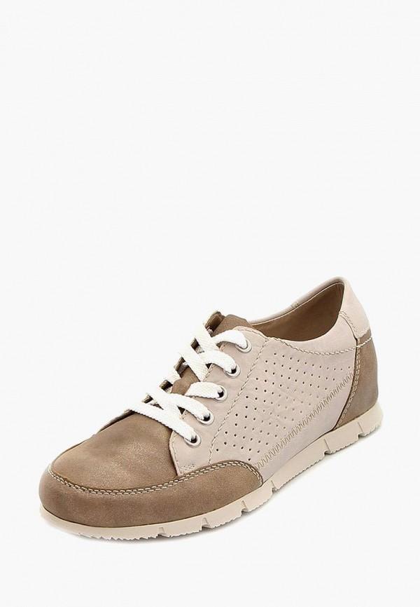 женские кроссовки rieker, коричневые