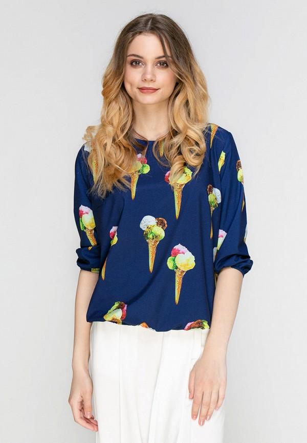 женская блузка zubrytskaya, синяя