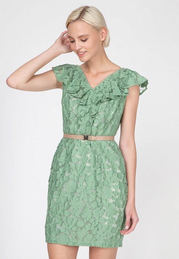 женское повседневные платье ornato, зеленое