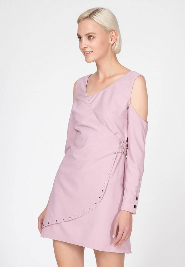 женское платье ornato, розовое