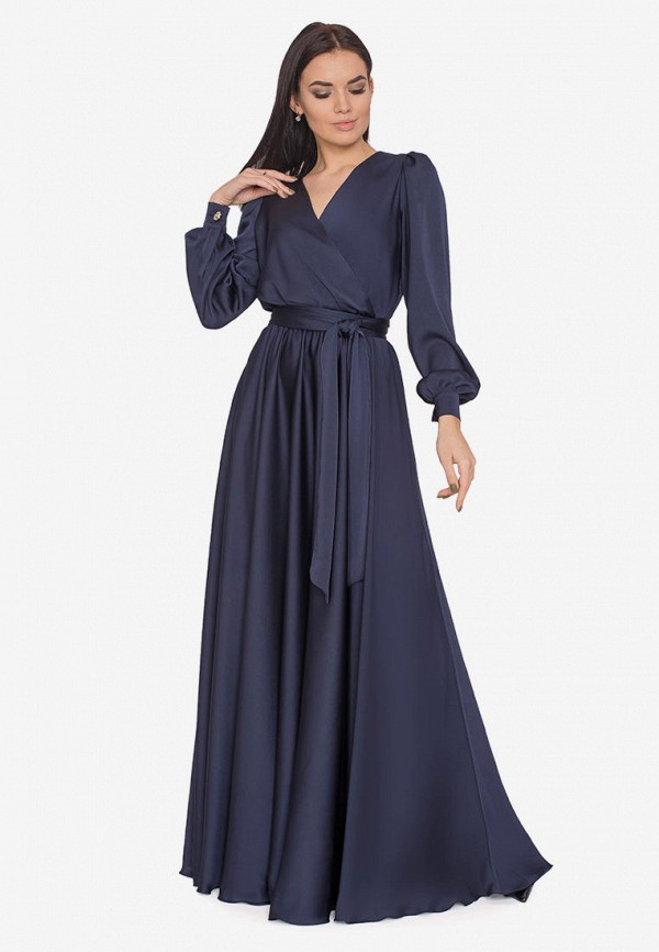женское платье seam, синее