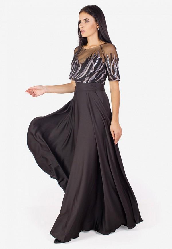 женское вечерние платье seam, черное