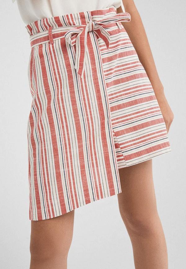 женская прямые юбка springfield, разноцветная
