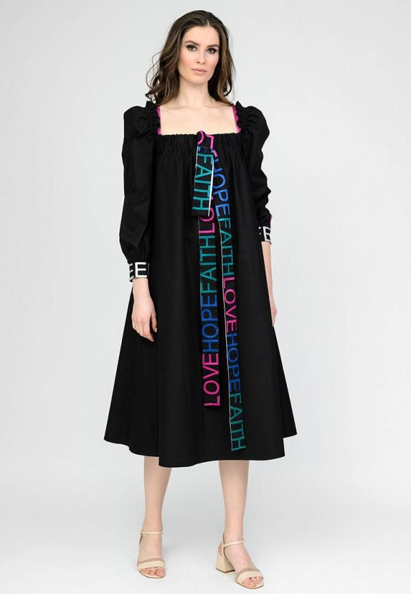женское повседневные платье raslov, черное